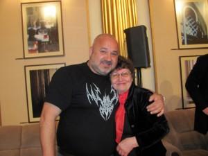 Eu şi Adrian Voicu la lansarea piesei lui